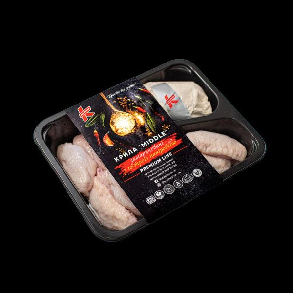 Купити крило Middle — з паніровкою оптом, Пан Курчак лоток, курятина охолоджена, курятина лоток, курятина упаковка, пан курчак лоток, chicken packing, chicken packed, packed chicken, упаковка курятины, курятина охолоджена